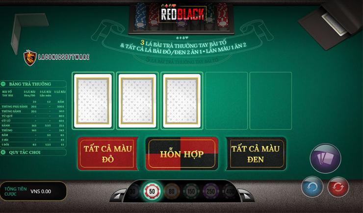 Hướng dẫn cách chơi Red Black Poker