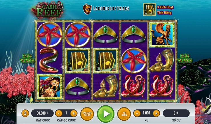 Hướng dẫn cách chơi Cash Reef Slot